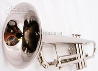 New silver BAND APRVD. BRASS Bb Trumpet +CASE+WARRANTY