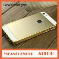 For Apple iPhone 5 5S Slim Armor Titanium Aluminum Metal Bumper Frame Cases Luxury Style Cellular Accessories 50 Pcs DHL Free