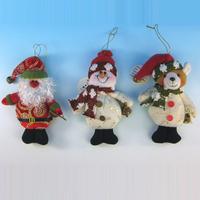 "Free shipping 10pcs/lot,5"" Indoor Christmas Hanging Ornaments Decoration Santa Claus Snowman Bear"