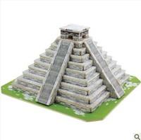 enshrine 3 d puzzle model assembled the mayan pyramids miniature construction model diy modeling wooden toys