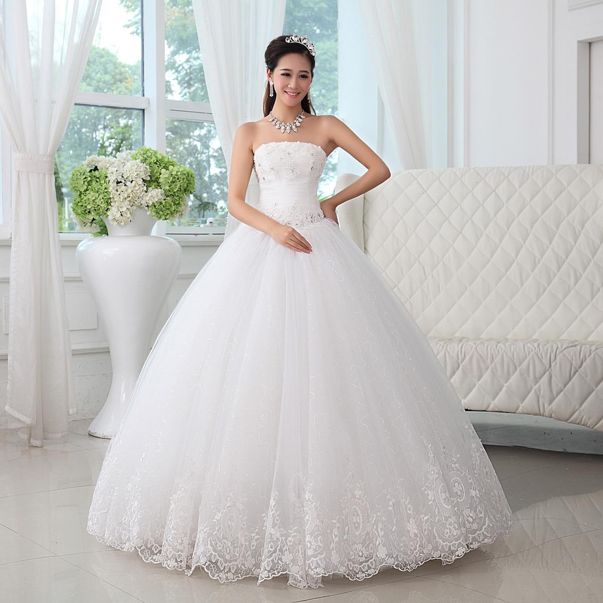 2013 bruiloft tube top trouwjurk formele trouwjurk jurk zoete prinses ...