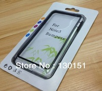 300pcs* Hybrid Clear Soft Gel Bumper Case For Samsung Galaxy Note 3 iii N9000, With Retail Box, 9 Color, DHL Freeshipping