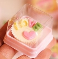 2013 Hot Sale Chocolate box pink plastic boxes panocha cotton candy box heaven and earth cover
