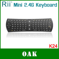 Free Shipping - Genuine  Rii RT-MWK24 2.4G Wireless Air Mouse with Keyboard for Android TV Box High Quality