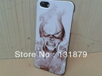 For iphone 5 5s case,Skull Head Hard Plastic Case For iphone 5 5s Free shipping 10pcs lot
