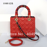 C1005 red 5  W24H20D10CM  2013  new  fashion women design genuine leather handbag wholesale