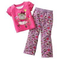 Newest Cartoon Pattern Baby Pajamas,boys and Kids underwear, kids Pajamas Suits, girls short sleeve sets Retail 2T-5T