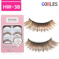 Handmade Fake False Eyelashes Eyelash Natural Look Transparent Eye Lashes HW-38