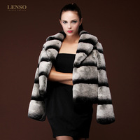 Black and white high quality full leather rex rabbit hair fur overcoat thick outerwear rabbit