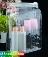 Free shipping,20pcs a lot Transparent 19.5*6*17.5cm Pvc cosmetics bag easy packing for traval package bag