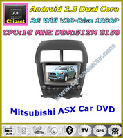 Android auto audio DVD for Mitsubishi ASX Outlander Sport Citroen C4 Peugeot 4008 1G CPU 3G Wifi S150 Free shipping 1252