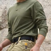 Tde Men quick-drying t-shirt fast drying clothing b2 o-neck long-sleeve shirt coolmax