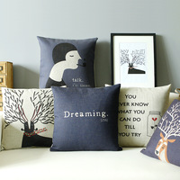 Cushion Cover 2013 Hot Sale Abstract fluid pillow car office cushion kaozhen siesta core derlook blue  High Quality