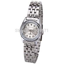 New Fashion Ladies Watch Silver Stainless Steel Quartz Watch 12 Small Diamond Luxury Watch Badace Brand Wristwatch Free Shippig(China (Mainland))