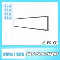 Wholesale LED panel light 300x1200mm, 40W/ 48W/ 55W/ 65W, SMD3014, AC85~265V/ DC12V, home/ office lighting ceiling