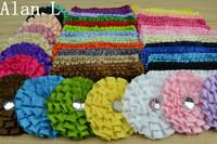 "LOT OF 39 Girls Baby Daisy Diamond flowers Hair bow clips 3"" & Crochet Headbands"