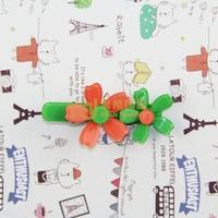 Exclusive Sales Acrylic Children Cartoon Headdress Double Little Flower Barrettes Import Machinery Production