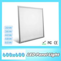 Wholesale best quality LED panel light 600X600mm, 30W/ 36W/ 40W/ 48W/ 60W, SMD3014, AC85~265V/ DC12V, 100lm/W, slim light panel