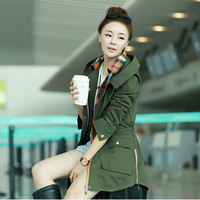Autumn new arrival 2013 slim casual trench female outerwear formal medium-long trench female ol trench female