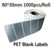 40x20mm 4000pcs/1Roll Thermal transfer blank barcode Labels,art paper barcode printer paper bar code labels sticker code paper