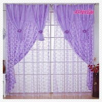 The  curtain for  window 100*270cm 4 screens curtain fabric balcony floor window rustic