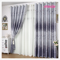 The  curtain for  window 100*270cm Eco-friendly b0686 print curtain window curtain dodechedron sun-shading thickening