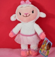 free shipping 20CM Doc Mcstuffins Lamb Plush Toy Stuffed Animal Sheep Toy for Children Gifts