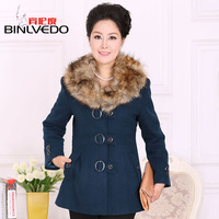 new  women's quinquagenarian women's woolen outerwear female autumn mother clothing slim design long wool coat