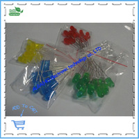 5MM LED Red/Green/Yellow/White/Bule,5colorsX20pcs=100pcs,LED Assorted Kit, Sample package