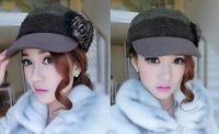 A12118  2013  New Lowest Price Fashion Caps For Women  Winter Flat Cap Hats Visors 55-58cm Guang Zhou Wholesale