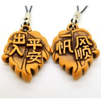 Accessories imitation cherry wood leaves mobile phone chain cell phone hangings unsalaried , shoes