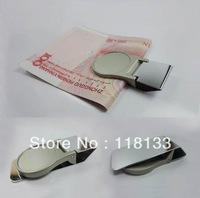 DIY Blank Money Clip/Credit Card Holder Silver Stainless steel Free Shipping