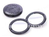 100PCS/LOT Black butterfly Circle Compact Mirror/Portable pocket Makeup Mirror Free Shipping 269