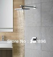Free Shipping Copper Chrome Bathroom Rainfall Shower Set Shower Faucet Bath Hot And Cold Mixer Tap Torneira Bathroom Chuveiro