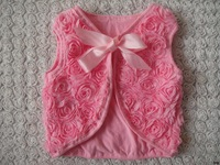 2013 new children's clothing baby roses shawl vest wholesale children's clothing children