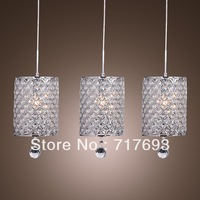 2013 Christmas  Hot Sales Free Shipping Crystal Pendant Light with 3 Lights  for Dining Room in Crystal, Modern/Comtemporary