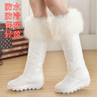 2013 boots white fox fur snow boots down slip-resistant high platform