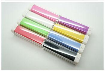 Free shipping Lipstick POWER BANK ,2600MAH portable external battery charger Universal power pank for Iphone 5/ Ipad/ Samsung
