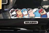 Crooked neck 80 after childhood/reflective car sticker/HellaFlush style suitcase sticker  10pcs/lot free shipping