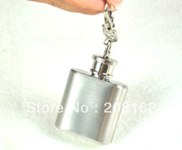 1 Oz Flagon Portable Hip Flasks Stainless Steel Bottle With Keychain Drinkware