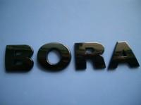 Vw bora bora labeling letter emblem decoration emblem black