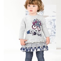 377 wholesale free shipping girls autumn style casual clothing sets 5sets/lot