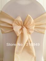 200 pcs champagne wedding sashes taffeta sashes chair covers with sash free shipping