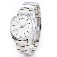 Brief lovers watch quartz mens watch steel commercial table belt fashion male watch