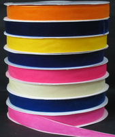 1''  25mm  nylon velvet ribbon tape single faced velvet ribbons spool DIY accessories 25yards/color