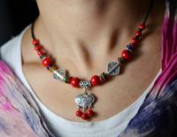 National trend diy handmade accessories tibetan jewelry silver necklace female pendant csxl012