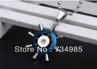 Free shipping over $ 15, Christmas Gift, 316L Stainless Steel Helm Necklace for men women, Fashion Jewelry, Wholesale HB9010