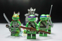 New Arrival Super Ninja Turtle Mini Figures Cheap Ninja Turtle Doll Eductional Building Block Doll Without Original Box