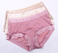 Seamless 100% mulberry silk knitting women panties underwear female shorts pink beige skin gray colors small wholesale