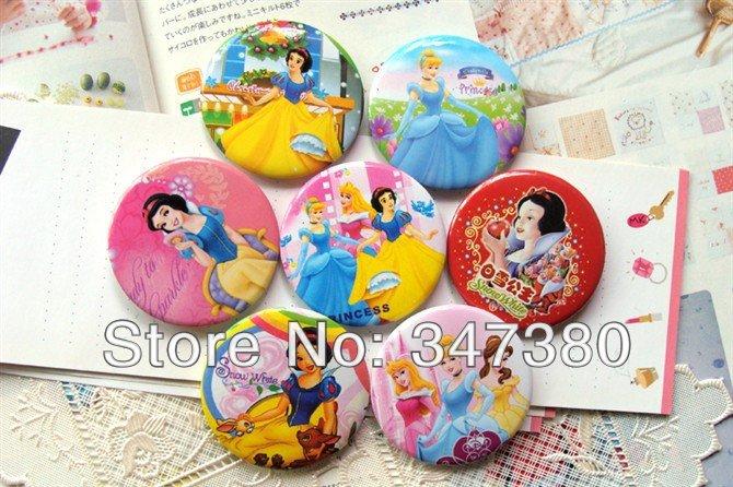 Retail High Quality 108pcs/lot Princess Badge Button fashion pin badge party favor Gift Free Shipping(China (Mainland))